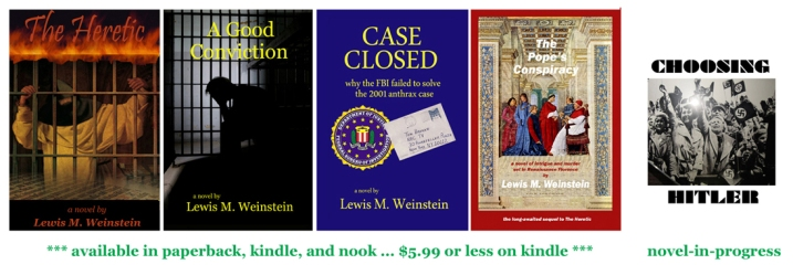 Lew's 5 novels Apr 2013-centered