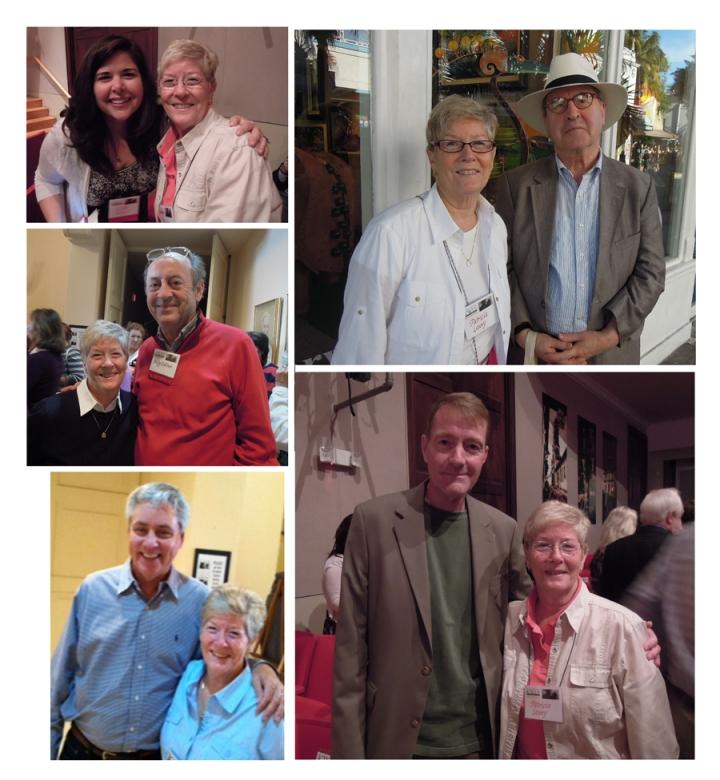 Pat with Unger, Banville, Collins, Child, Hiaasen