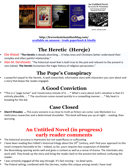 5 novels - covers & praise