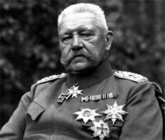 German President Paul von Hindenburg